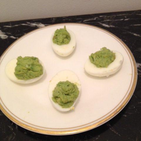 Avocado Stuffed Eggs (makes 12)
