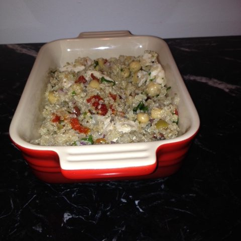 Quinoa Salad with Chicken and More (serves 4)
