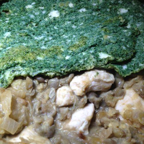 Mustard Chicken with Spinach Crust (4)
