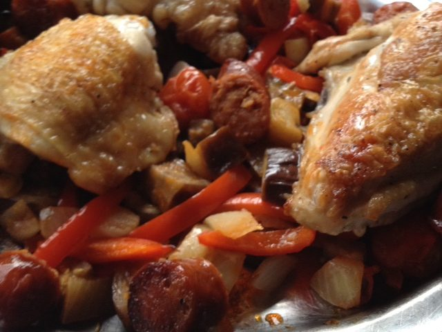 Kate's Chicken and Chorizo Tray Bake (4)