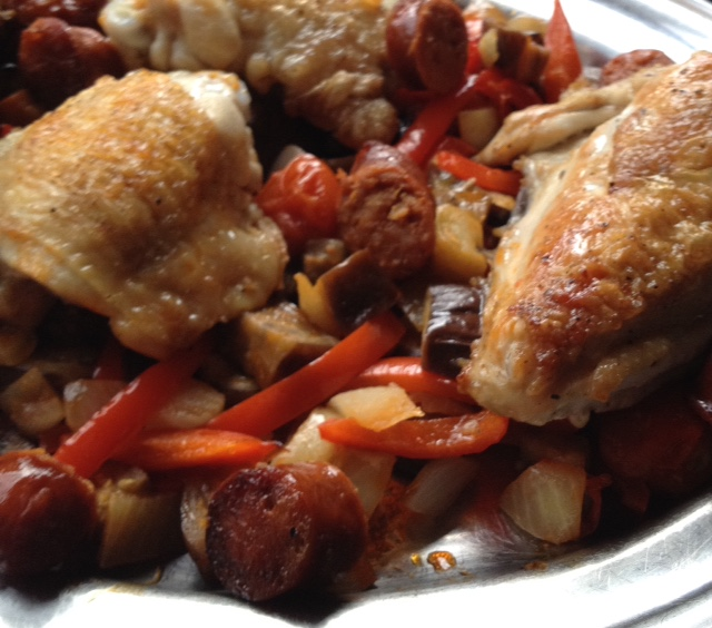 Kate's Chicken and Chorizo Tray Bake (serves 4)