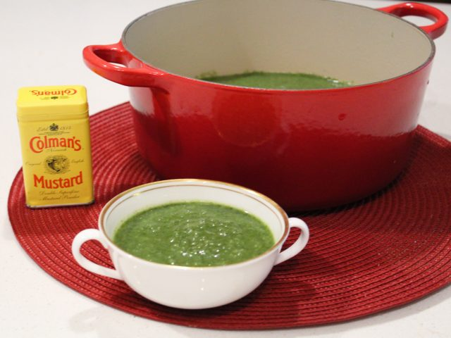 Leek, Broccoli and Spinach Soup with a Hint of Mustard (4)