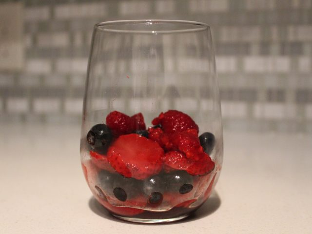 Red Fruit Salad with Creme de Cassis or Creme de Framboise
