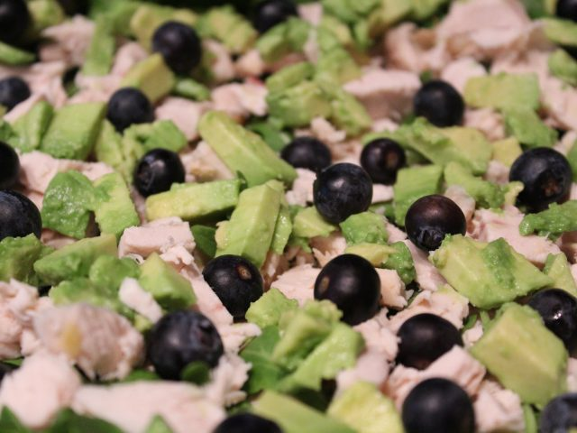 Chicken, Blueberry and Avocado Salad (4)