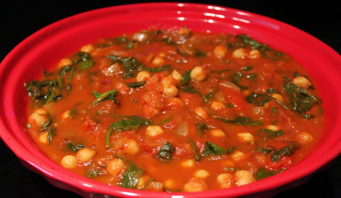 Chickpea, Spinach and Harissa Stew (4)