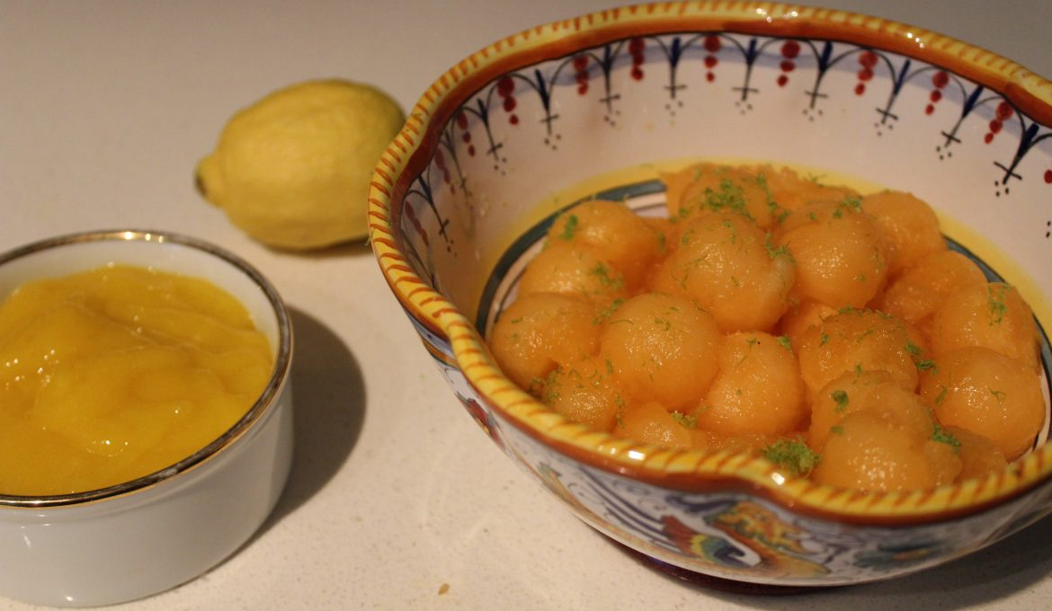 Melon with Mango Sauce and Lime (4)