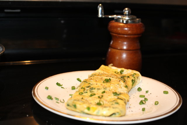 Chive Omelet (for 1 person)