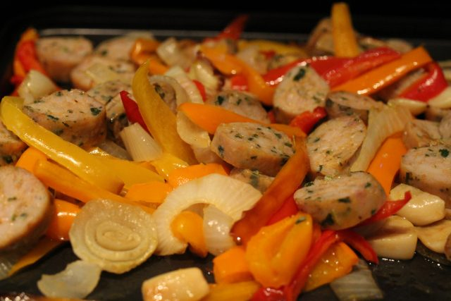 Chicken Sausage with Peppers (4)
