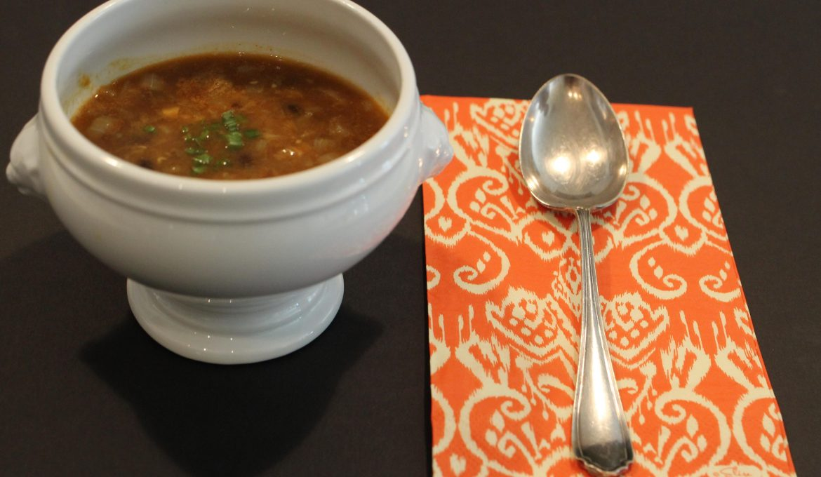 Spiced Red Lentil and Black Bean Soup (4)