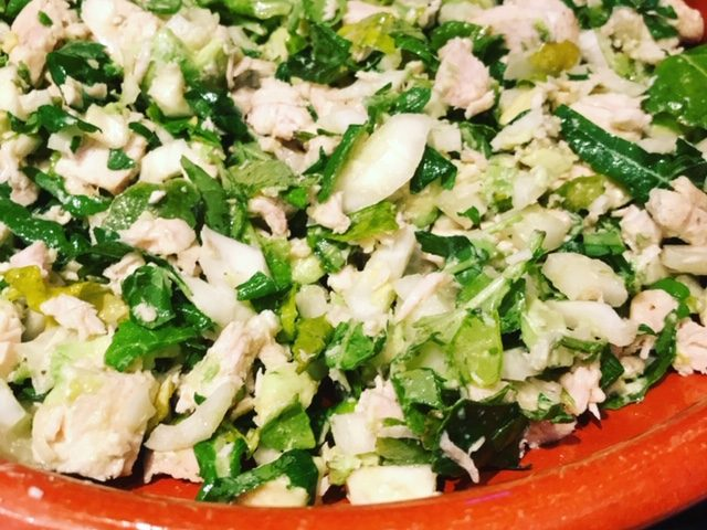 Chicken, Baby Kale, Fennel and Avocado Salad (4)