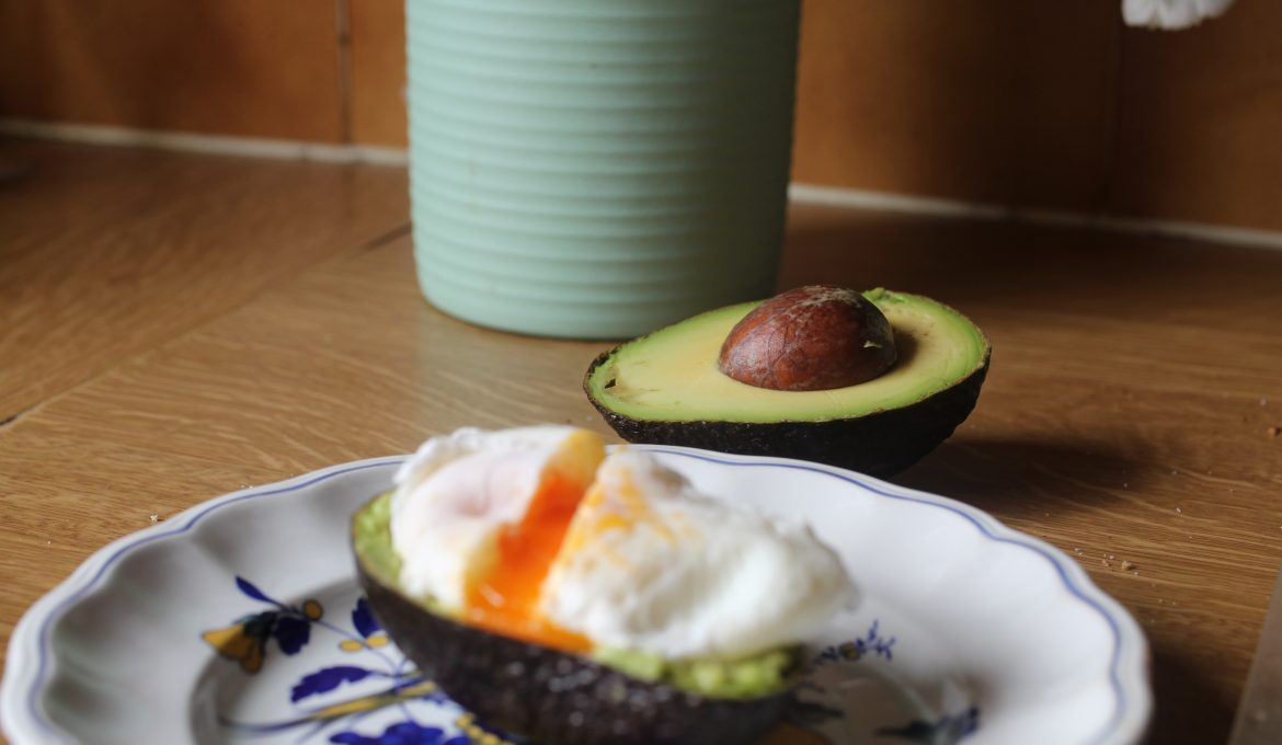Poached Eggs with Smashed Avocado and Cayenne Pepper
