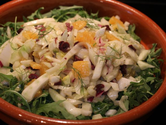Fennel, Orange and Olive Salad with a Lemon Yuzu Dressing (4)