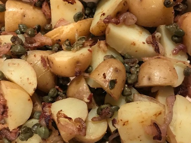 Potatoes with Shallot, Capers and Anchovies (serves 2 – 4)