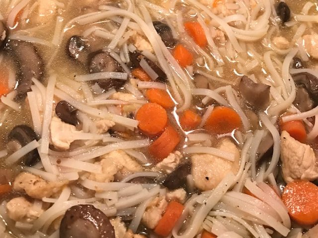 Chicken and Mushroom Noodle Soup (4)