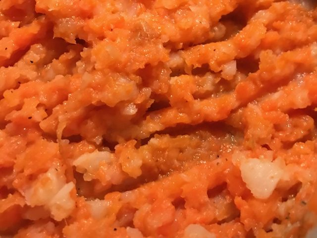 Turnip and Carrot Mash (serves 4)