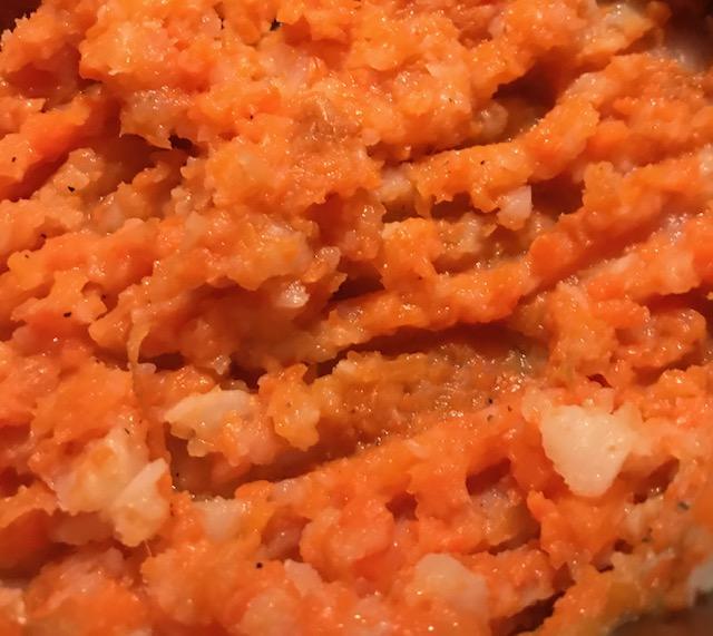 Turnip and Carrot Mash (serves 4)