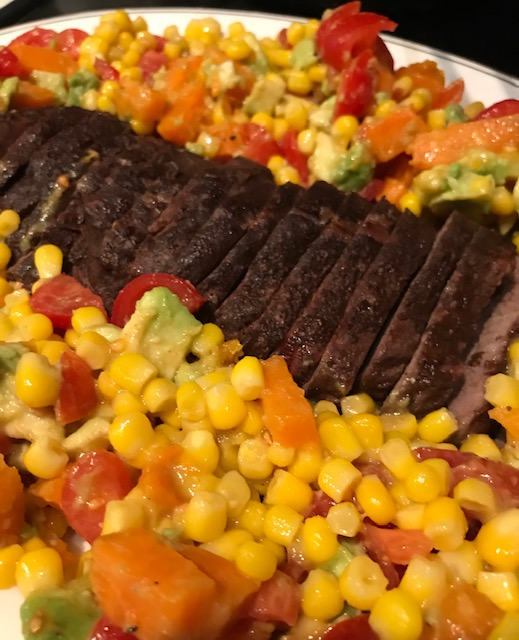 Steak surrounded by Vegetables (serves 4)