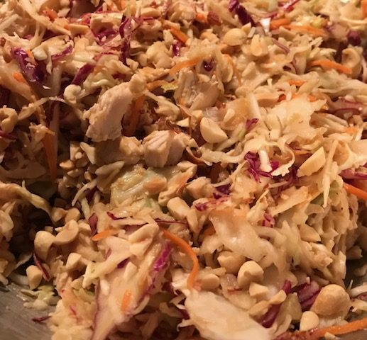 Asian Chicken Coleslaw (serves 4)