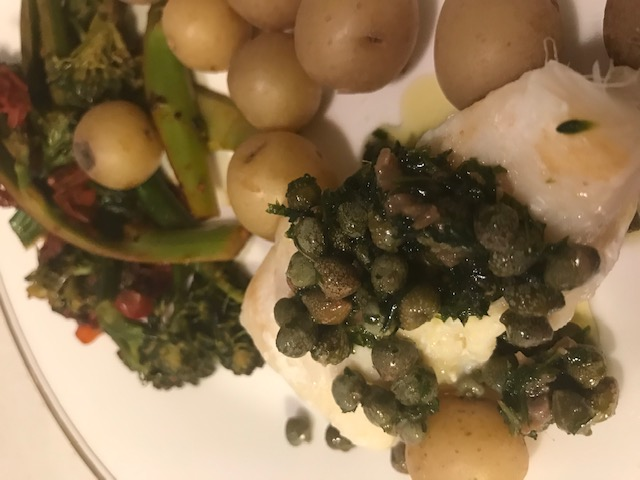 Caper and Anchovy Topping for Fish (serves 4)