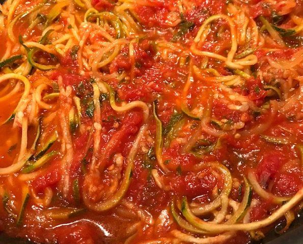 Zucchini Marinara (serves 4)