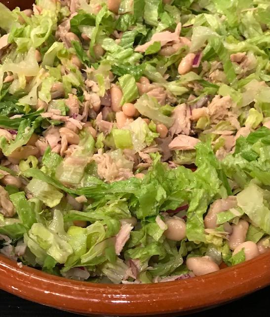 Tuna and Cannellini Bean Salad (serves 4)
