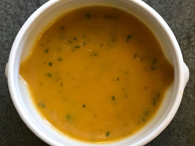 Carrot and Cilantro Soup (serves 4)