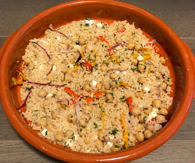 Sweet Little Peppers, Quinoa, Chickpeas and More (serves 4)