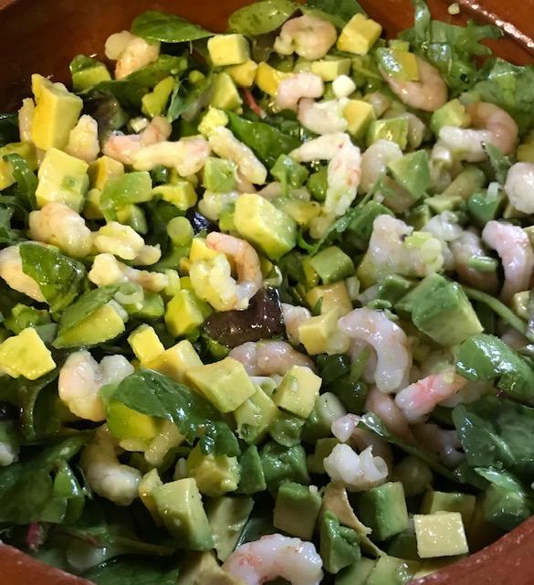Shrimp and Avocado Salad (serves 4)